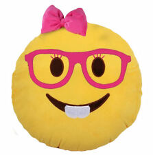 Emojicon Girl Nerd V-2 Plush Pillow