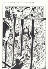 All-New X-Men #2 p.20 - Ghosts of Cyclops Break into Jail '16 art by Mark Bagley