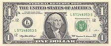 1999 series L/S (SAN FRANCISCO) $1 Federal Reserve Note One Dollar Bill