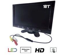 MONITOR LCD 10.1 POLLICI PULSANTI TOUCH 2 INGRESSI AV PER VIDEOSORVEGLIANZA.