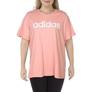 Adidas Womens Pink Fitness Yoga Running T-Shirt Athletic Plus 4X BHFO 4786