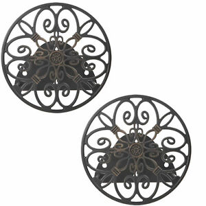 Liberty Garden Products Decorative 125 Foot Hose Wall Mount Butler (2 Pack)