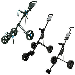 Ben Sayers Push Pull Golf Trolleys Cart Two Three Wheel Foldable Lightweight