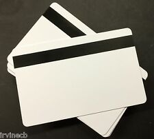 Narrow Mag Strip Stripe Gloss Inkjet PVC Blank ID Cards HiCo Epson Canon -Lot 10