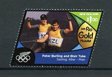 New Zealand 2016 MNH Rio Gold Medal Peter Burling Sailing 1v Olympics Stamps