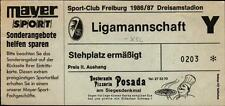 Ticket II. BL 86/87 SC Freiburg - Karlsruher SC