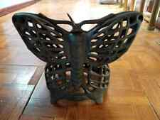 Antique Cast Iron Butterfly Candle Lantern Holder