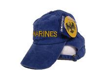 Blue Washed EGA Marines Marine USMC Distressed Embroidered ball cap hat