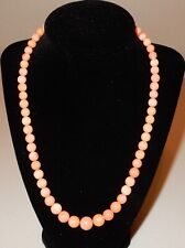 Jay King Sterling Silver Pink Salmon Coral Graduating Beaded Necklace