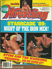 Inside Wrestling Magazine April 1990 Ric Flair Road Warriors Sting Ultimate