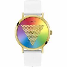Orologio Uomo GUESS IMPRINT W1161G5 Silicone Bianco Gold Dorato Colorato
