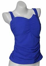 Profile By Gottex Women's E Cup Cobalt Tankini Top 0304 Sz 36E