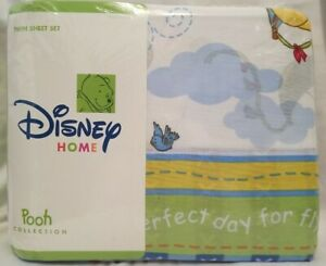 Vintage Disney Winnie the Pooh Full Sheet Set Up Up and Away NIP