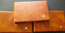 3 álbumes philswiss para cartas, bloques con impresión CH y 120 FUNDAS