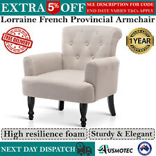 Lorraine French Provincial Wing Sofa Lounge Arm Chair Accent Armchair