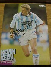 1992/1993 AMP: West Ham United - Keen, Kevin. Bobfrankandelvis the ebay trading