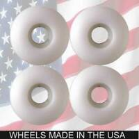 BLANK 53mm White Skateboard WHEELS.. FREE SHIP