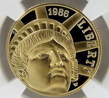 1989 W LIBERTY $5 PROOF GOLD COIN NGC PF 69 ULTRA CAMEO West Point Mint