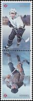 Canada History of Hockey pair set (water activated from souvenir sheet) MNH 2017