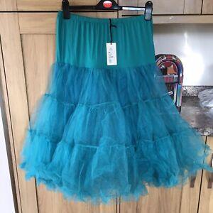 """Lady 50's Underskirt Rock&Roll Petticoat  TUTU 28""""approx Rockabilly green"""