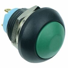 Green Momentary Off-(On) Waterproof 12mm Push Button Switch 2A IP67 SPST