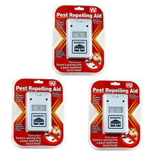 3pc Riddex Plus Pest Repeller Ultrasonic Aid Rodents Roaches Ants On TV US Plug