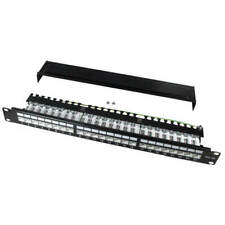24 Ports Patch Panel Cat 5e Rj45 With IDC Connection