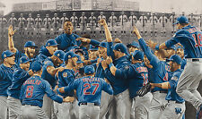 """Chicago Cubs Championship lithograph print """"The Wait is Over"""" (14x24"""")"""
