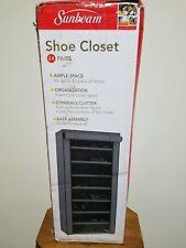 Sunbeam 24 Pair Shoes Closet Cabinet Storage - Grey