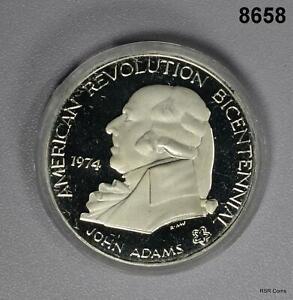 1976 BICENTENNIAL JOHN ADAMS 90% SILVER MEDAL #8658