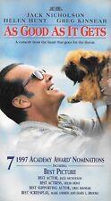As Good As It Gets (VHS) Jack Nicholson, Helen Hunt, Greg Kinnear