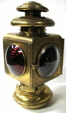 EARLY SOLAR MODEL 730 SQUARE BRASS OIL TAIL LAMP MODEL T FORD STODDARD DAYTON