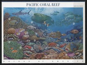 UNITED STATES 2004, SEA LIFE: PACIFIC CORAL REEF, Scott 3831 SHEET, MNH