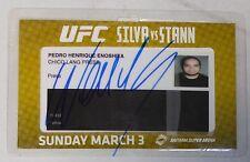 Wanderlei Silva Signed Official UFC on Fuel TV Press Pass Credential PSA/DNA COA