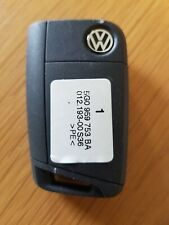 VW 3 BUTTON CAR KEY FOB IN WORKING ORDER (REF 444/7)