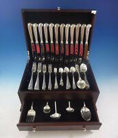 Queen Anne Williamsburg by Stieff Sterling Silver Dinner 12 Flatware Set 89 Pcs