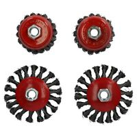 """Twist Knot Wire Wheel Cup Brush 3/"""" for 4-1//2/"""" Angle Grinder 10 Pack AU026"""