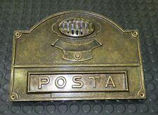 Placca buca posta lettere esterna ottone con pulsante per citofono Alubox A50B