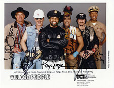 """1918 The Village People Autographed 8x10"""" Photo"""