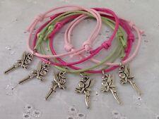 6 Tinkerbell Fairy Friendship Bracelets Party Bag Gift Favors Prize Hen Do