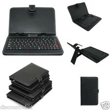 """Micro USB Keyboard PU Leather Stand Case For 7""""8""""9""""10"""" inch Android Tablet Cover"""