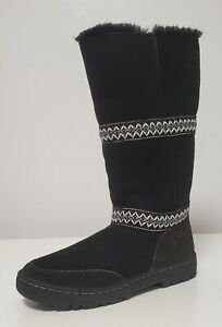 NIB!MISMATCHED AUTHENTIC UGG SUNDANCE REVIVAL Lined Black Boots Left 7 Right 8