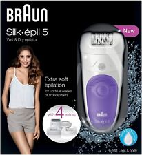 Braun Silk Epil 5-541 Womens Wet & Dry Cordless Epilator + 4 Attachments