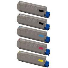 5-Pack Toner Set for Okidata Oki C610 C610N C610DN C610CDN 44315312