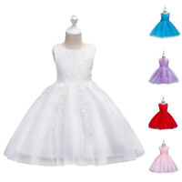 Flower Girls Lace Party Dress Wedding Birthday Christmas Pageant Formal Dresses