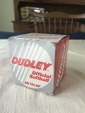 Vintage Dudley Official slow pitch tournament Softball Sb 12Lrf w/box