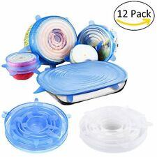 Lids Silicone Lids,12 Packs Seal Food Stretch Wrap Reusable Cover Lids,Heat And