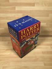 ROWLING Bloomsbury 1st ed paperback HARRY POTTER BOXED SET 1-4. Philosophers