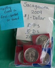 2009 P and D Sacagawea Dollar 20 Satin Coin Lot US Mint $1 Native American M2