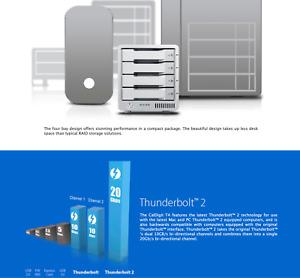 CalDigit T4 20TB (4x 5TB) Thunderbolt 2 External RAID Hard Drive, 1500 RPM, 20Gb